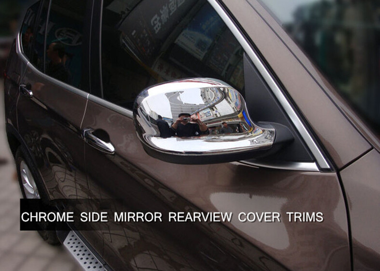 FOR BMW X3 F25 2011 2013 ABS Chrome Exterior Side Mirror Rearview Cover Trim 2pcs Glossy NEW Arrival !
