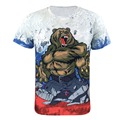 Men Animal Bear 3D T Shirts Casual Short Sleeve Tops Summer