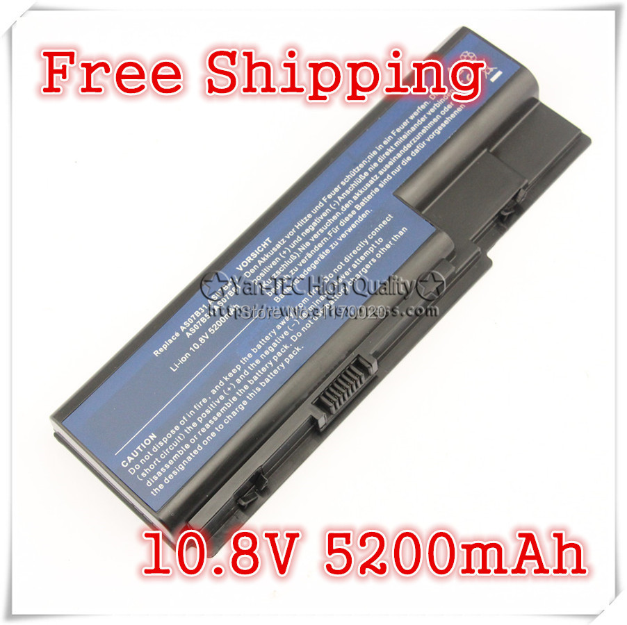 Replacement laptop battery for  AS07B31 AS07B41 AS07B51 AS07B61 AS07B71  For Acer Aspire 5220 5920 5520  Free shipping<br><br>Aliexpress
