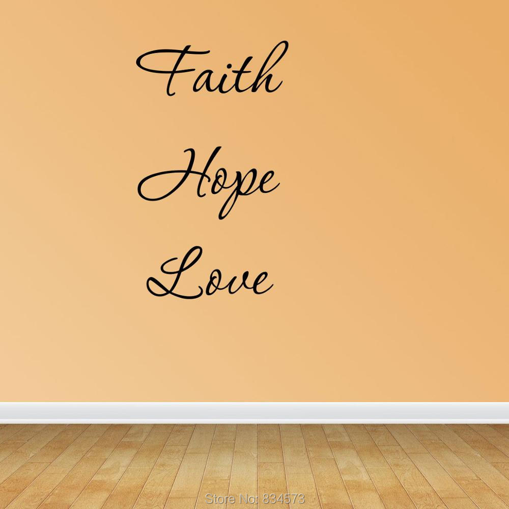 Nice Faith Love Hope Wall Decor Ornament - Wall Art Ideas - dochista ...