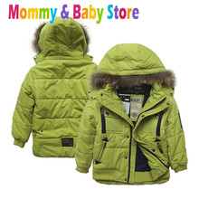 Boy's Jacket Hooded Winter Snow Jacket  7-12 years old Children's Outwear Zipper Coat,Kids  Winter Hooded Overcoat Jacket(China (Mainland))