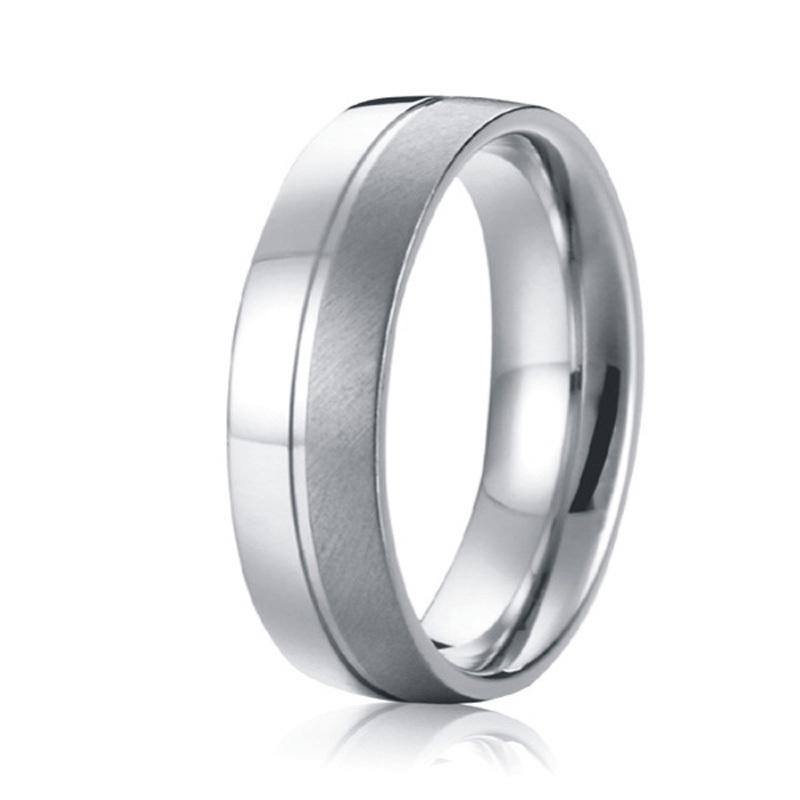 nunca se desvanecen de encargo hechos a mano mens wedding band anillo anillo de titanio puro