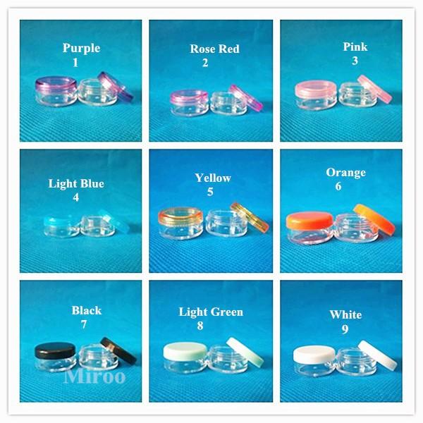 50pcs/lot  5g plastic cosmetic jars, small round cream bottle jars,5ml plastic cosmetic container<br><br>Aliexpress