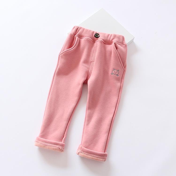 2015 winter new Korean boy Girls cartoon velvet embroidery pants<br><br>Aliexpress