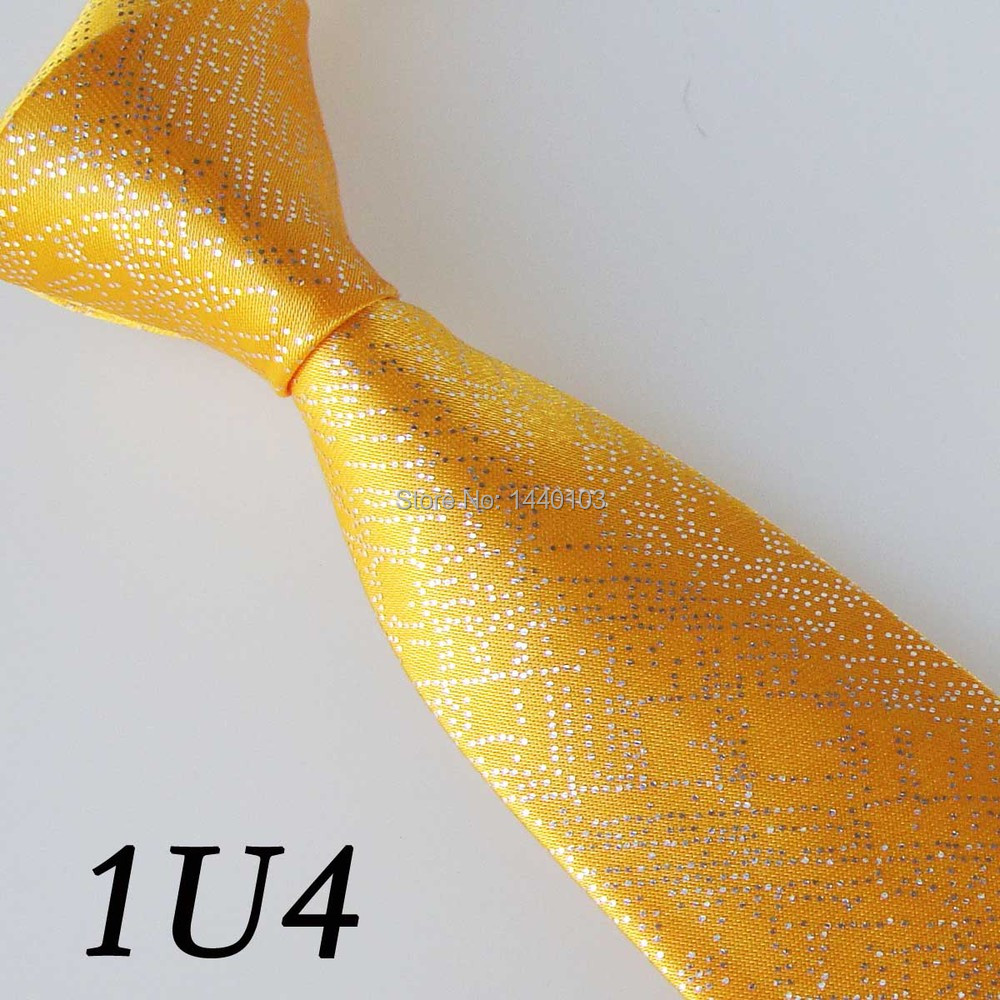 2015 Latest Style Polyester Brand Slim Tie Deep Yellow Solid Color 5CM Shiny Tie Skinny/Narrow Wedding Groom Fashion Men Necktie(China (Mainland))