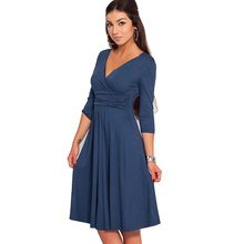 Buy Aamikast Bodycon V-neck Three Quarter Sleeve New Fashion Hot Sale Women Dresses Spring Autumn Party Cocktail Casual Dresses for $12.34 in AliExpress store
