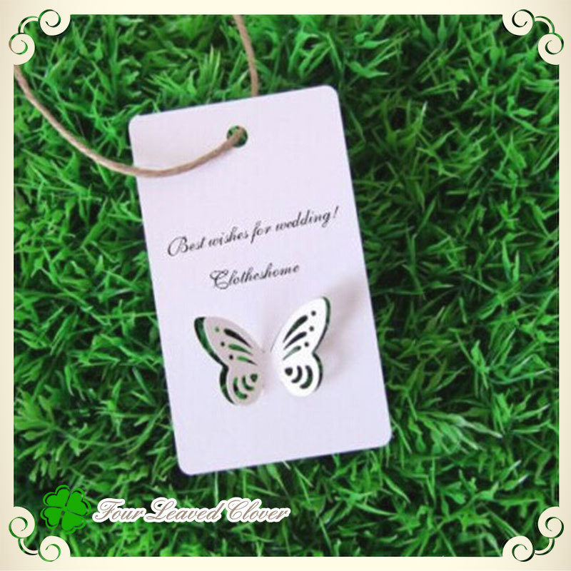"Free Shipping 60pcs/ lot ""hollow butterfly""Paper wish card,Invitation Wedding Wish Card,Blank Greeting Card Wedding Supplies!!(China (Mainland))"