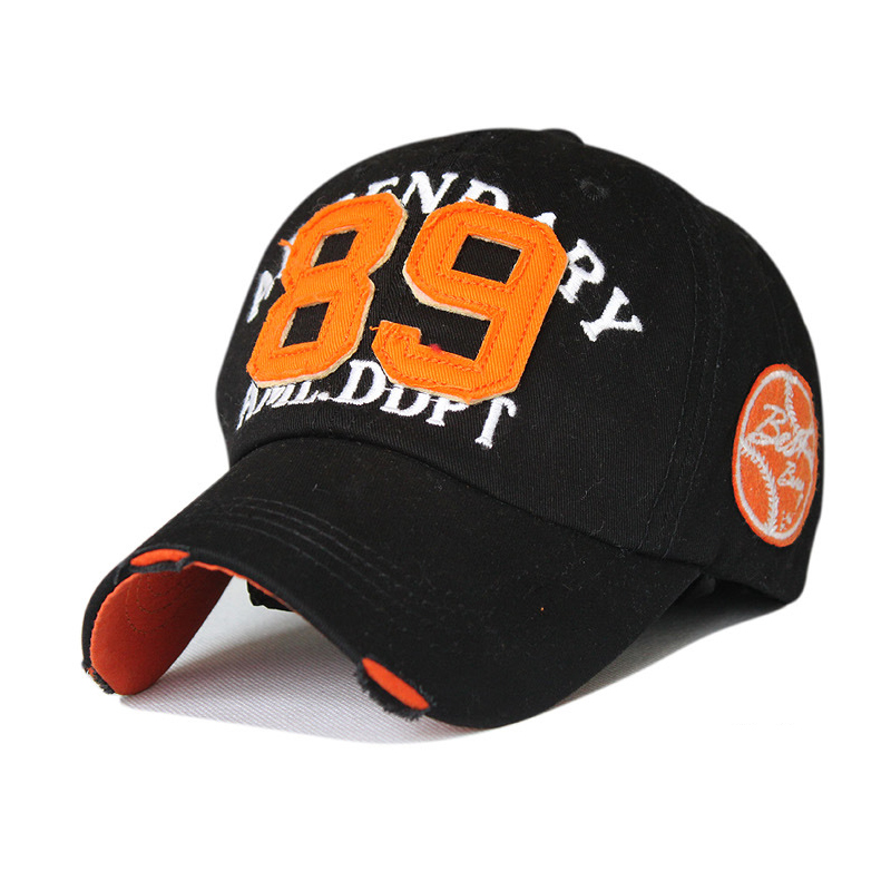 spring south koreans love number 89 worn out washing cotton embroidery baseball cap 7color 1pcs brand new arrive(China (Mainland))