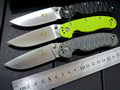 New sale Custom Hunting Folding Knife With Sand Light Surface 9CR Blade G10 Handle Camping Outdoor