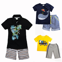Buy New 2017 Kids Boy Summer Set Cotton Shorts + T Shirt Children Boys Clothing Baby Boy T Shirt Set Sports Suit Child Kids Clothes for $7.71 in AliExpress store