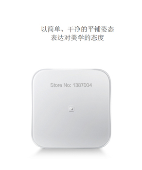 Original xiaomi mi smart weighing scale xiaomi weigh scale support Android 4.4 iOS7.0 above bluetooth 4.0 white color in sock