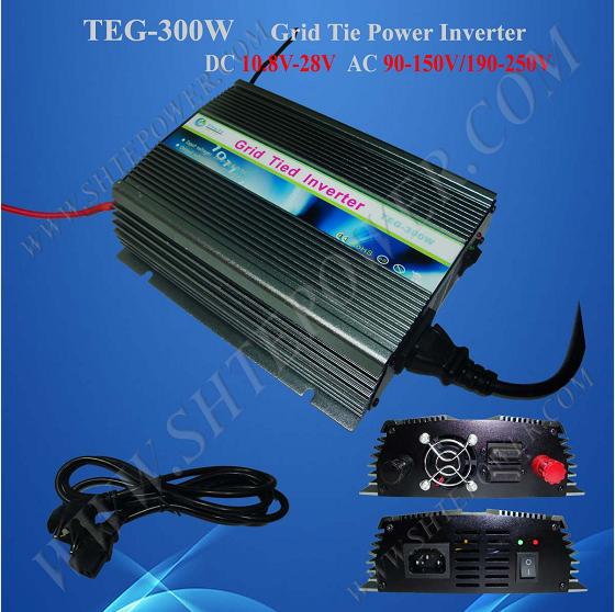 DC 10.8-28V Input to 240V 230V 220V Grid Tie Solar Inverter 300W Micro Grid Inverter(China (Mainland))