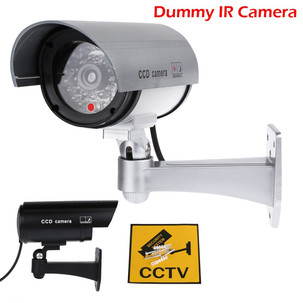 1:1 Real Size (18x9x20cm) Dummy Surveillance Fake LED Flashing Security Camera Waterproof  CCTV Surveillance Imitation Detector(China (Mainland))
