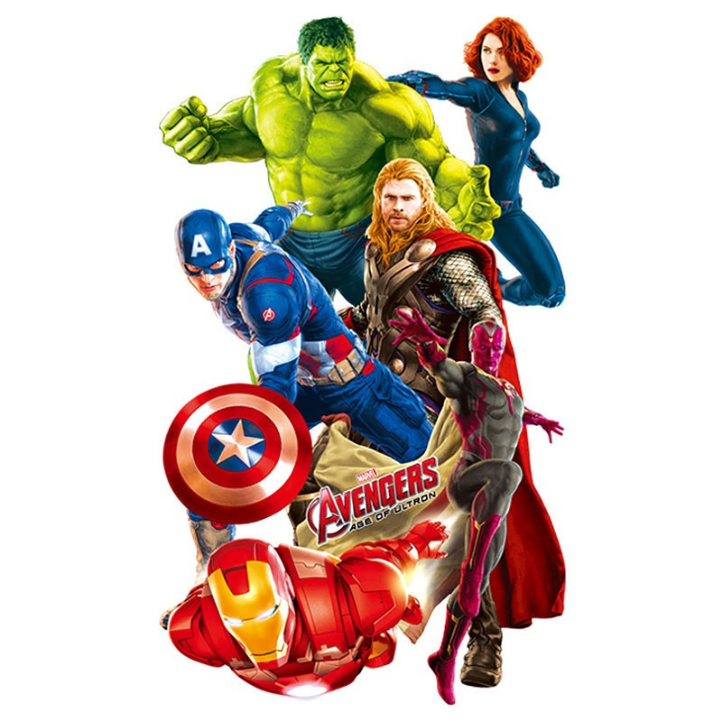 super hero avengers hulk wall stickers peel and stick wall marvel superhero kawaii art wall decals
