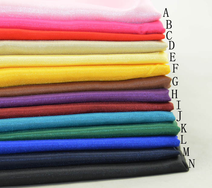 2m lot faux silk light weight fabric clothes skirt lining