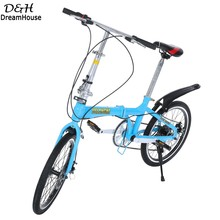 20 inch 6 Speed High quality Alloy folding bicycle/folding bike the special gift/ Blue color /portable bike(China (Mainland))