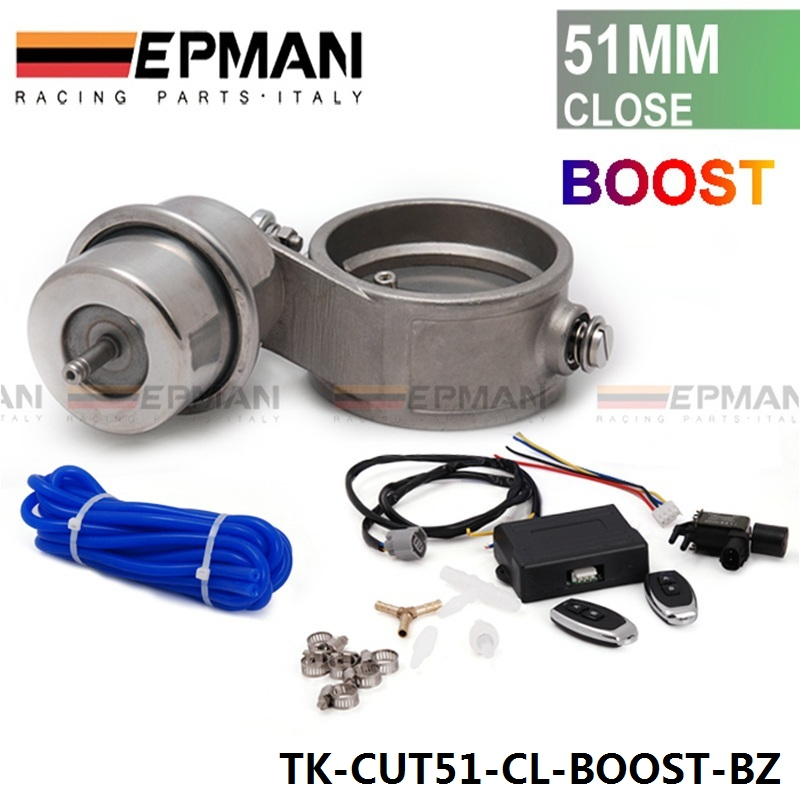 Exhaust Control Valve Set Cutout 2 51mm Pipe Closed With Boost Actuator with Wireless Remote Controller Set TK-CUT51CL-BOOST-BZ<br><br>Aliexpress