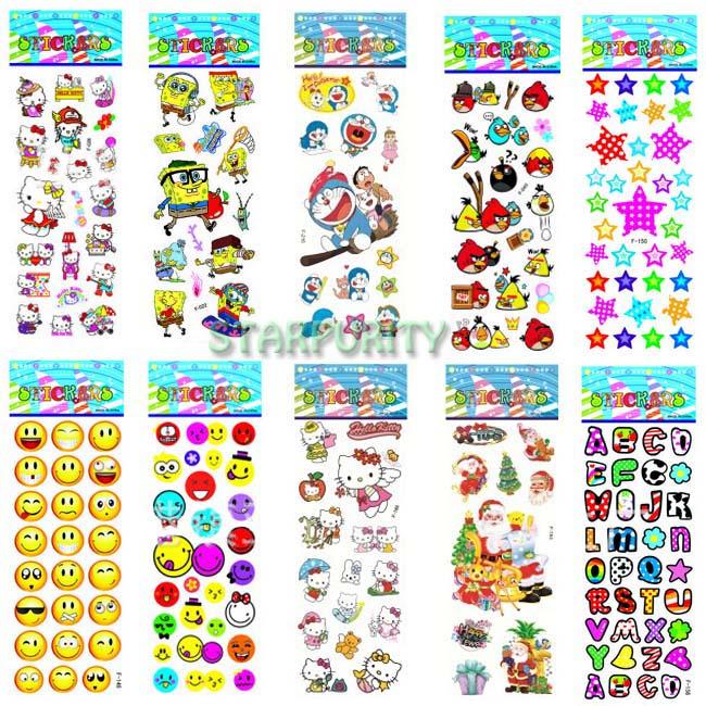100Pcs Sheets Mixed Cartoon Pattern Teacher Reward Wall Desk Stickers Scrapbook for Kids Children Boys Girls Room Decor(China (Mainland))