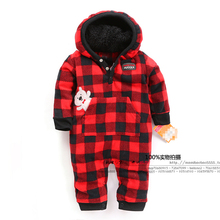 Spring and autumn baby clothes baby romper polar fleece newborn clothing infant clothes one piece romper