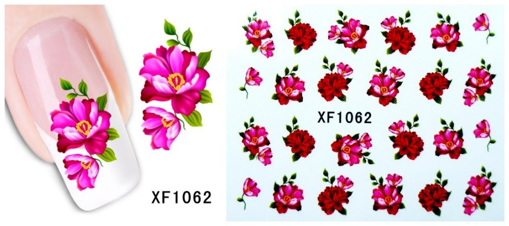 Free shipping Japanese style watermark 1 Sheets Design cute DIY black cat Tip Nail Art nail sticker nails Decal nail tool 1062(China (Mainland))
