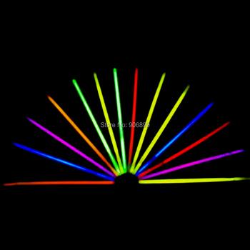 50 шт много цвет свечения флуоресценция лёгкие палочки браслеты ожерелья неон ну вечеринку день рождения яркость цветной свет
