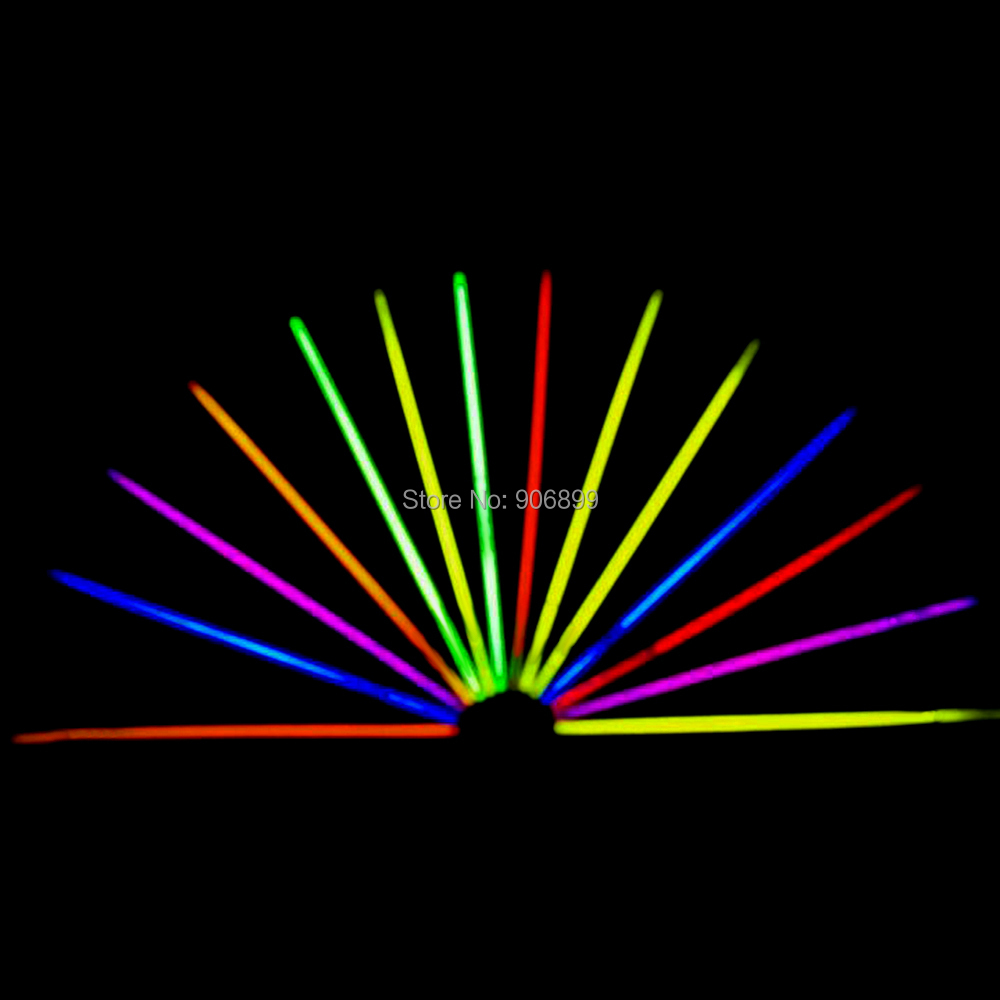 50pcs New Arrival Multi Color Glow Fluorescence Light Sticks Bracelets Necklaces Neon Xmas Party Birthday Bright Colorful Light(China (Mainland))