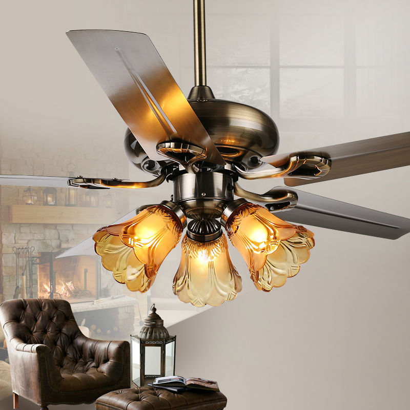 fashion ceiling fan lights retro style fan lamps bedroom dinning room