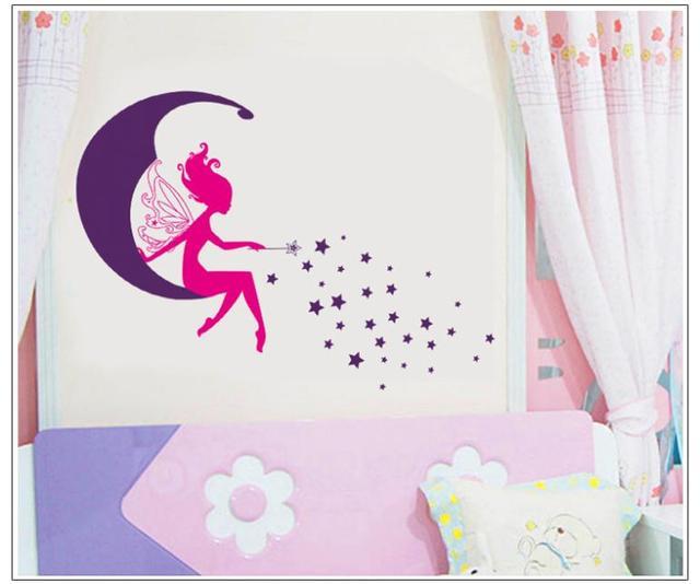 7104 пвх съёмный стена наклейки для детей номеров своими руками creative для дома отличительные знаки луна star маленький ангел для девочки