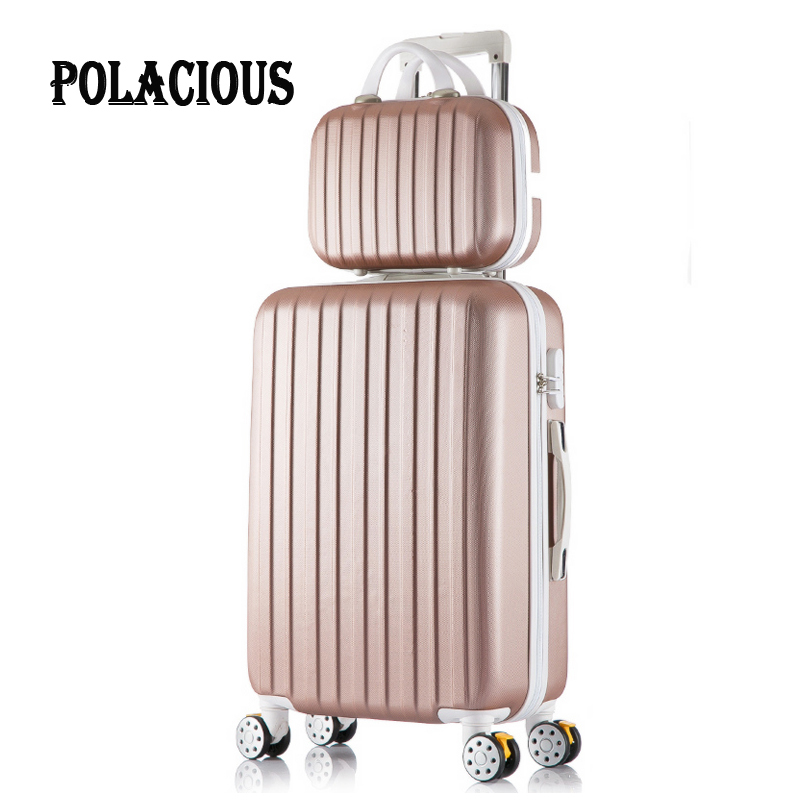 """20 """"24"""" 26""""inch New stripe luggage set suitcase 20"""" boarding, 10 Colors universal wheels trolley candy, travel box to slide, Box"""