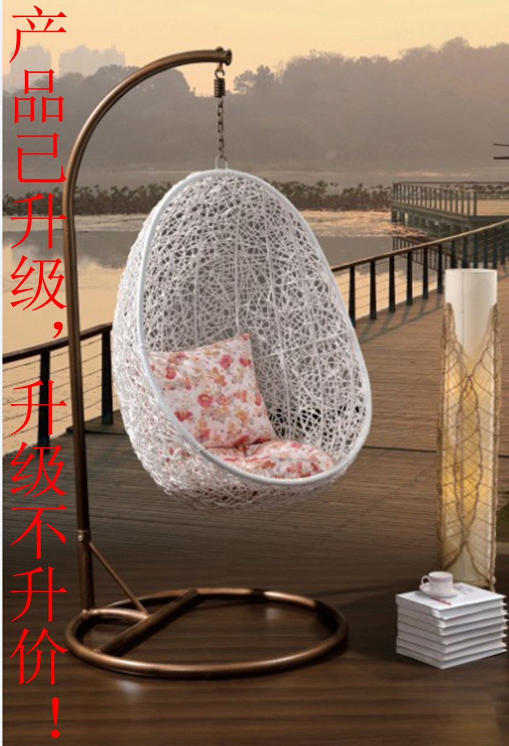 Outdoors egg shaped chairs suspended basket chairs suite - Silla huevo ikea ...