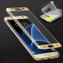 Buy 9H 3D Curved Surface Full Screen Cover Explosion-proof Tempered Glass Film Samsung Galaxy S6 edge S7 Edge Screen Protector for $2.34 in AliExpress store