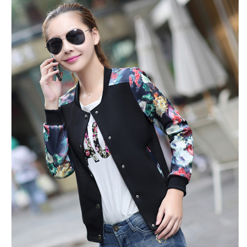2015 women jackets winter outerwear female plus size clothing short design thin outerwear baseball uniform female slim jacket(China (Mainland))