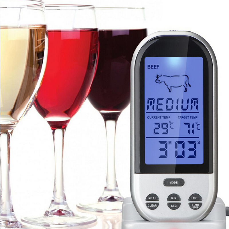 Digital Kitchen Food Cooking Meat Barbecue Grill Probe Thermometer for Wine/Milk/Water/Coffee/Sugar/Chocolate/Liquid/Smoker/Oven(China (Mainland))