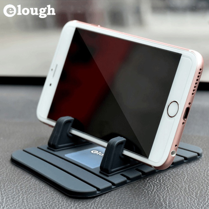 Elough Car Phone Holder Soft Silicone Mobile Phone Mount Stands Bracket Support Gps For iPhone 5 6 6s Plus Samsung Phone Holder(China (Mainland))