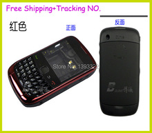 100 % Original full housing For Blackberry Curve 9300 housing Complete+Side Button+Keypad  black /red ,Free Shipping(China (Mainland))