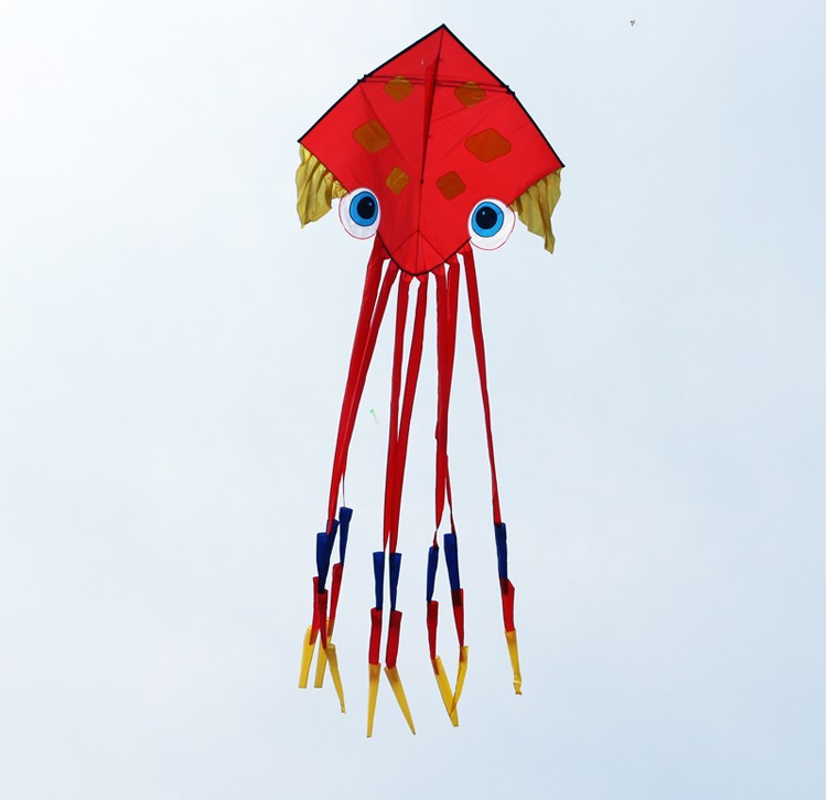 Free shipping high quality 6.5m octopus kite easy control ...