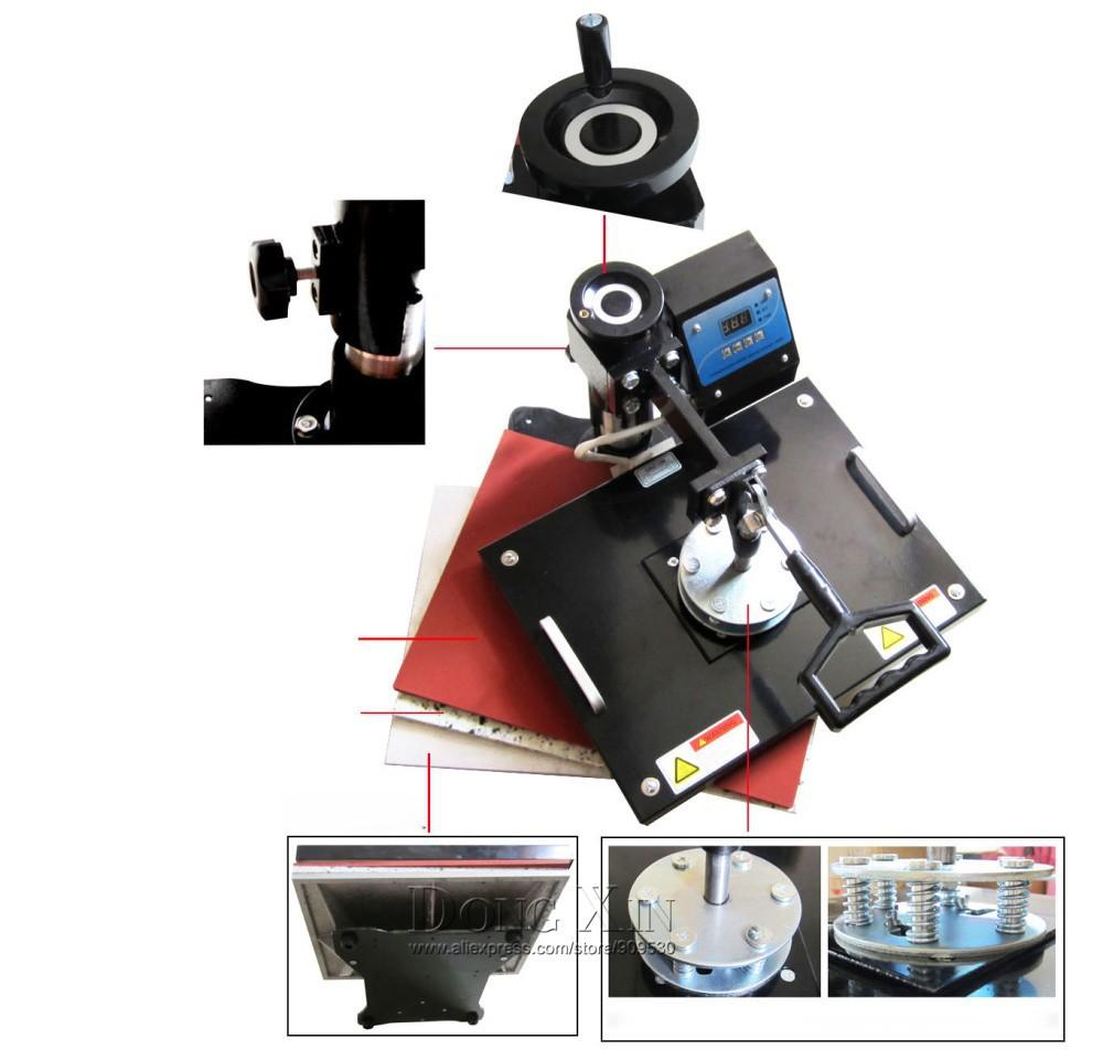 Купить 8 в 1 комбо тепла пресс машина для Футболки, кружки, Hat, пластины DX-038 Передачи Тепла Сублимации Пресс Машина 110 В/220 В