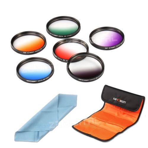 6pcs 67mm Graduated Color Lens Filter Kit Set For Canon Nikon DSLR Camera 67MM Lens Cleaning Cloth Free Shipping 0077<br><br>Aliexpress