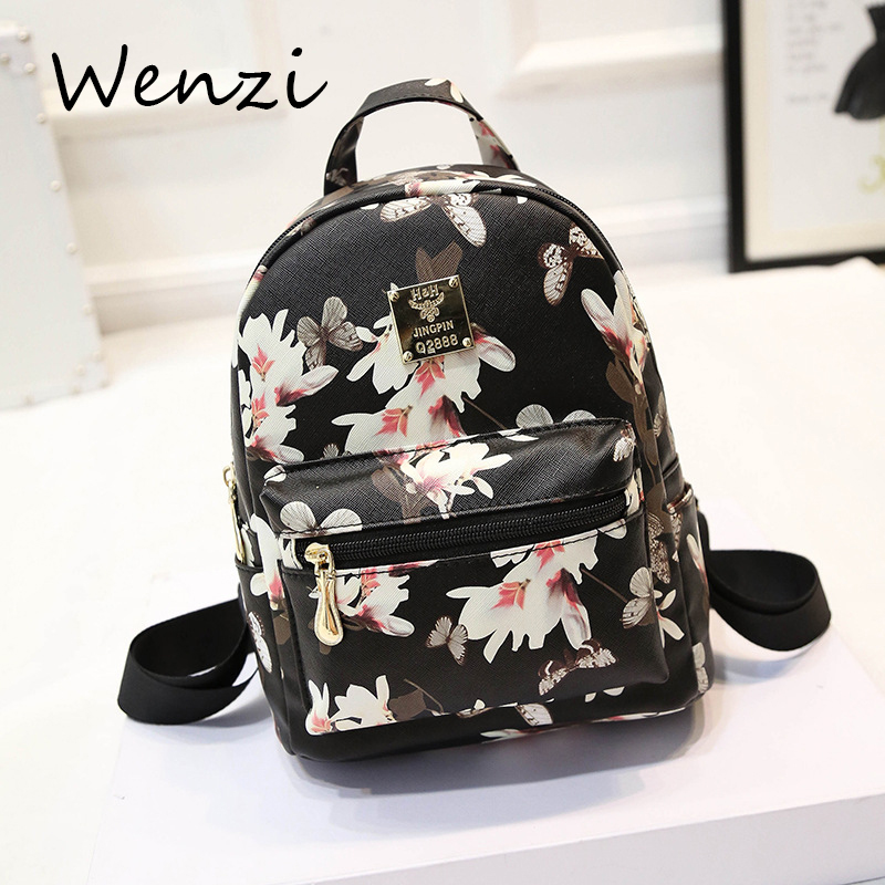 Bolsa Nike Feminina 2016 : Mochilas mujer printing backpack leather mochila