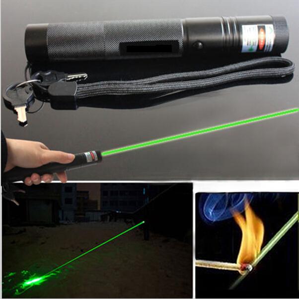 Top Laser 301 200mW Green Laser Pointer Adjustable Focal Length Burning Match + Safe Key(China (Mainland))