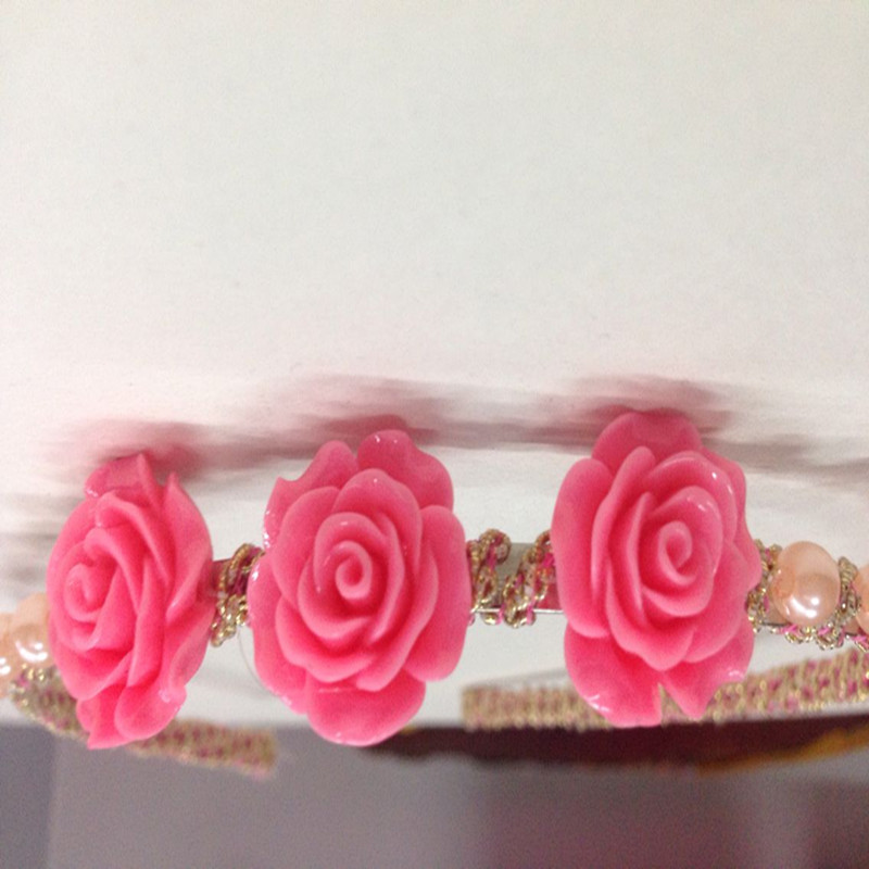 Hair clasp New fashion six colors with high quality Venetian pearl Beautiful Flower Women Hairband Hair Accessories Festival(China (Mainland))