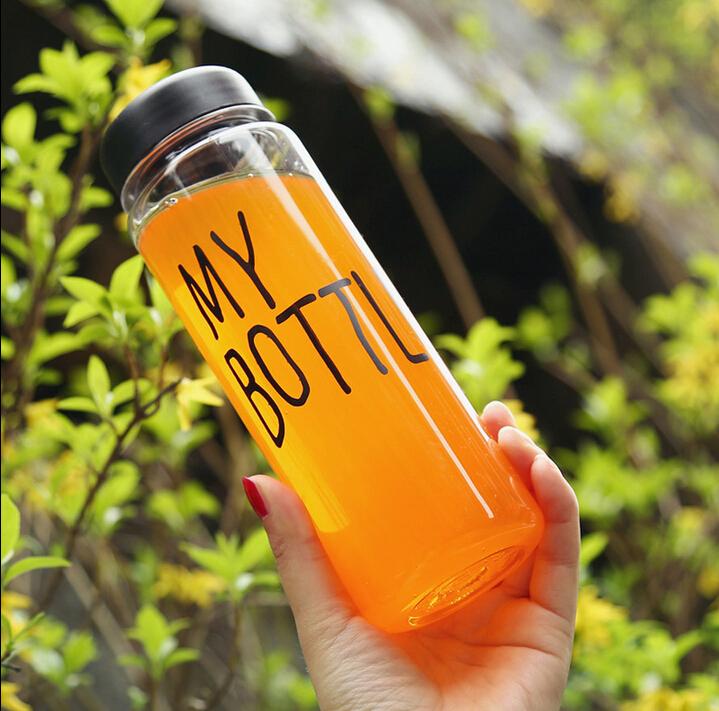 My Bottle 500ML With Bag Sack BPA Free Tritan LEAK-PROOF Sport Readily Water Tea Cup Black / White(China (Mainland))