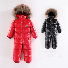 2015 Baby boys winter thick rompers baby girls snowsuit coat kids outerwear clothes children Solid jumpsuit infant costume