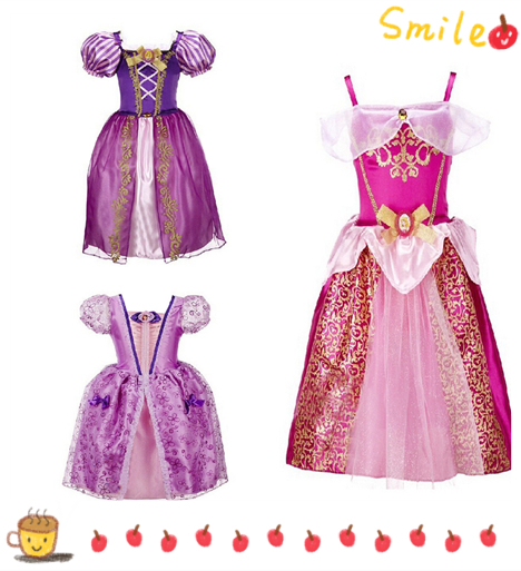 Princess Belle&Rapunzel little baby girls dress rapunzel birthday customes kids clothes children clothing DS8(China (Mainland))