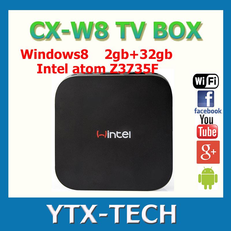 Wintel Win8 Mini PC 64Bit Intel Atom Z3735F Windows 8.1 mini pc android 4.4 tv Box Dual OS 2GB/32GB Portable For TV Phone(China (Mainland))