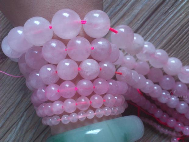 4.6.8.10mm естественная розовый кварц бусины разбросаны бусины ожерелье браслет / ожерелье / ювелирные изделия делает