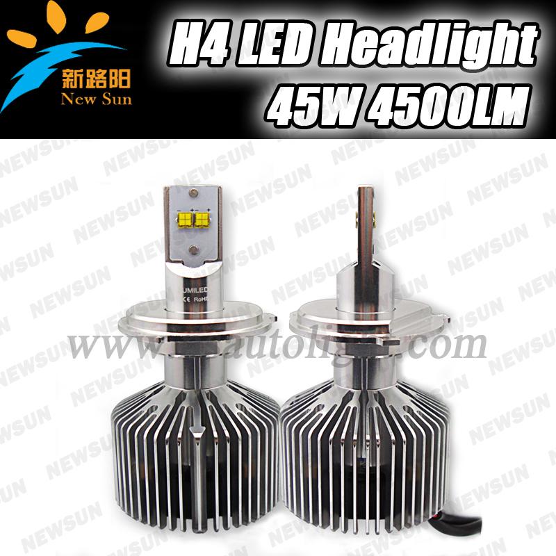 Фотография Gen5 45W H4 LED Headlight Conversion Kit 6000K 4500Lm White Car Fog Light Lamp 9003 Hb2 led Auto Headlamp hi lo beam bulb
