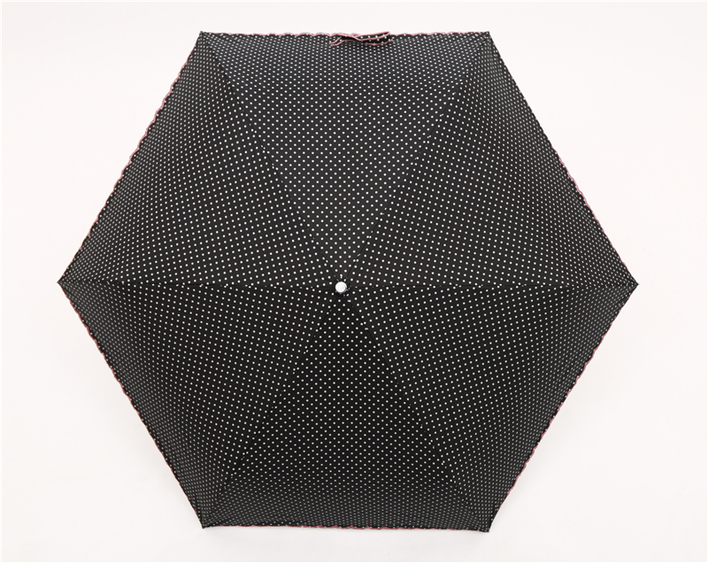 dots style women three folding manual handy rain and sun umbrella