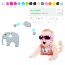 Buy Silicone Pacifier BPA Free Elephant Baby Teether Hand made Funny Colorful Bead Clip Holder Pacifier Clips Soother Chain Baby for $5.05 in AliExpress store