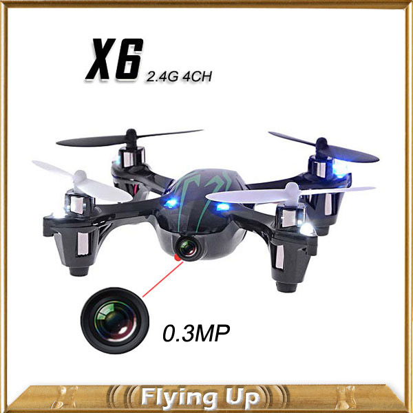 0.3MP Camera Drone Top Selling X6 Quadcopter RC VS Hubsan X4 H107C 4CH 2.4G Remote Control Toys RC Helicopter with Camera(China (Mainland))